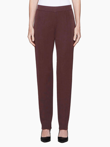 Plus Size Straight Leg Knit Pant, Mahogany