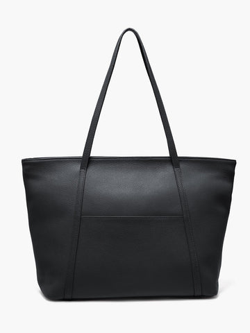 Seneca Large Zippered Tote, Black