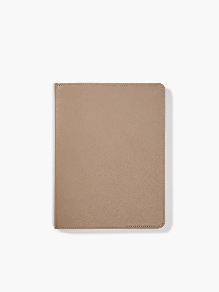 Refillable Spiral Notebook, Taupe