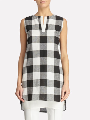 Petite Gingham Checked Tunic