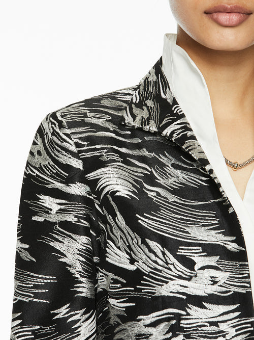 Embroidered Woven Jacket-Misook