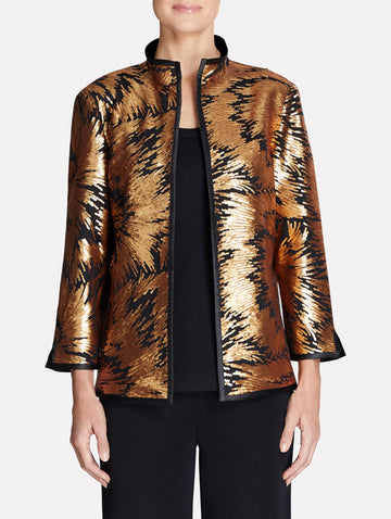 Gold Sequin and Sheer Jacket