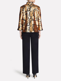 Gold Sequin and Sheer Jacket Color Gold/Black