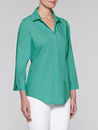 Jade Classic Stretch Cotton Blouse