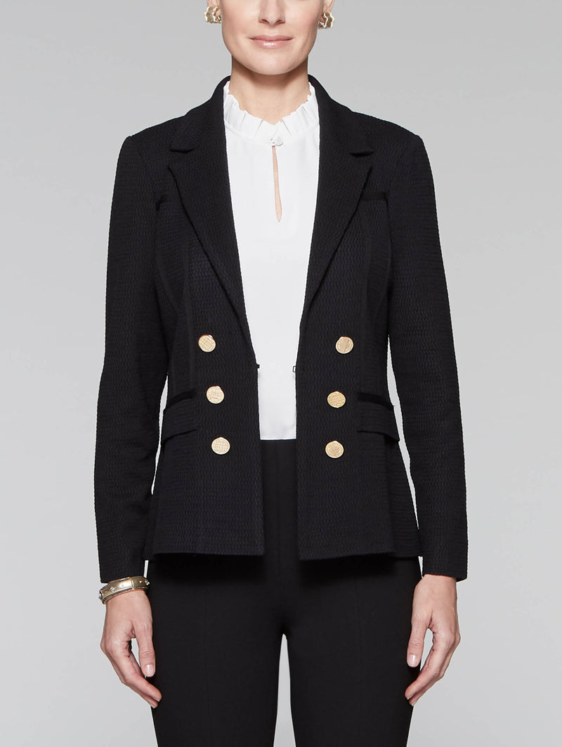 Button Accent Jacket Color Black