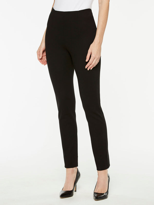 Black Ponte Pull-On Pant Color Black