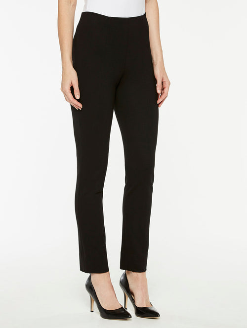 Black Ponte Pull-On Pant Color Black Premium Detail