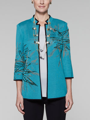Embroidered Accent Jacket