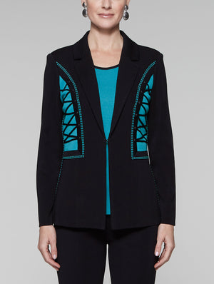 Contrast Laced Detail Jacket