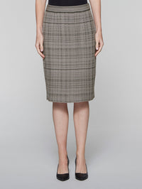 Mink Grey and Black Textured Plaid Skirt – Misook
