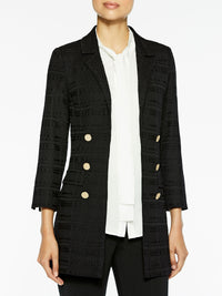 Tailored Signature Knit Jacket, Black