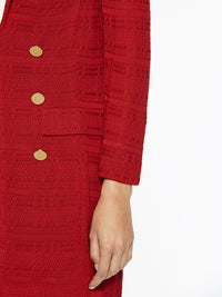 Tailored Signature Knit Jacket, Red