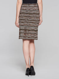 Sparkle Stitch Skirt Color Hickory/Black/Macademia