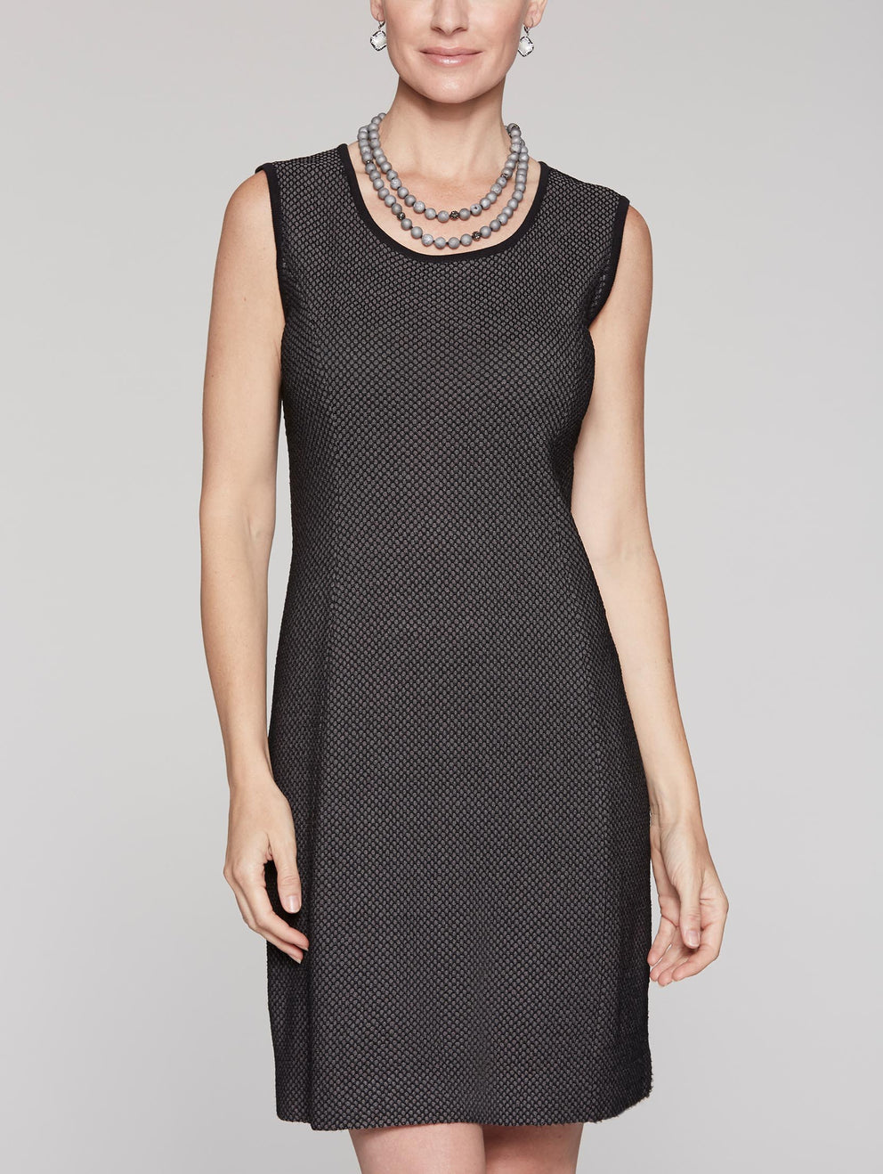 Honeycomb Pattern Dress Color Black/Slate