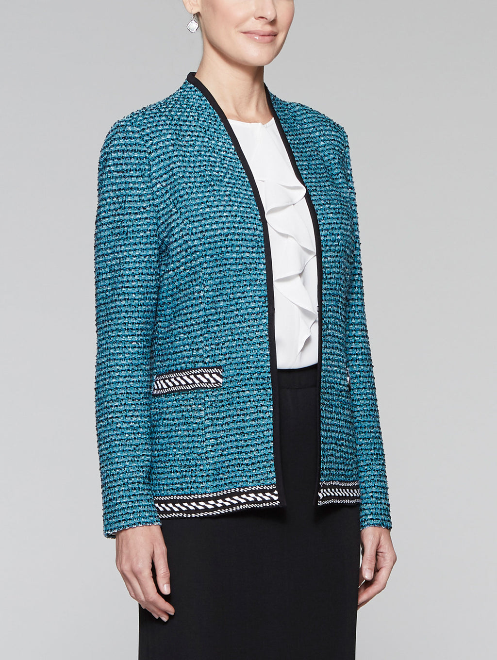 Tweed Contrast Trim Jacket