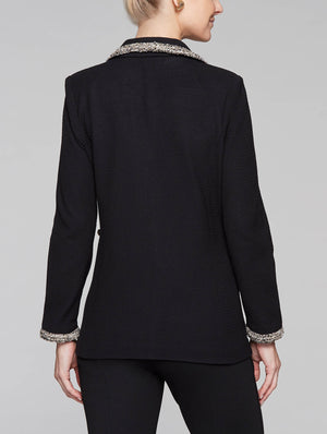 Dressy Trim Jacket Color Black/Gold