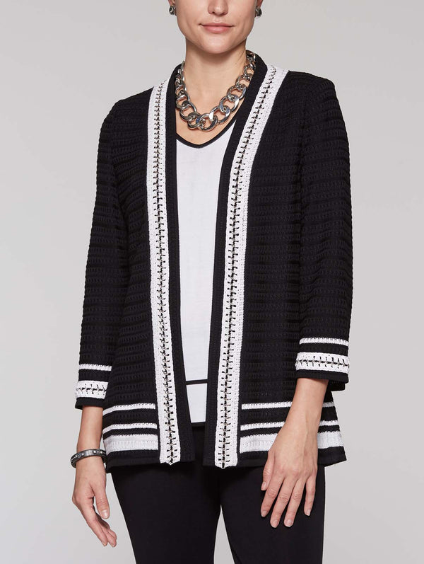 Crochet Chain Trim Jacket