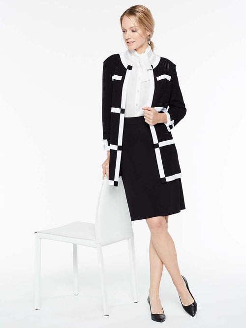 Contrast Frame Jacket Color Black/White