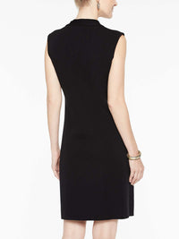 Tie Neck Dress Color Black