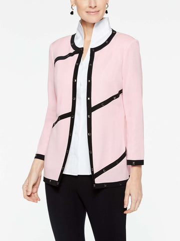Piped and Stud Trim Jacket