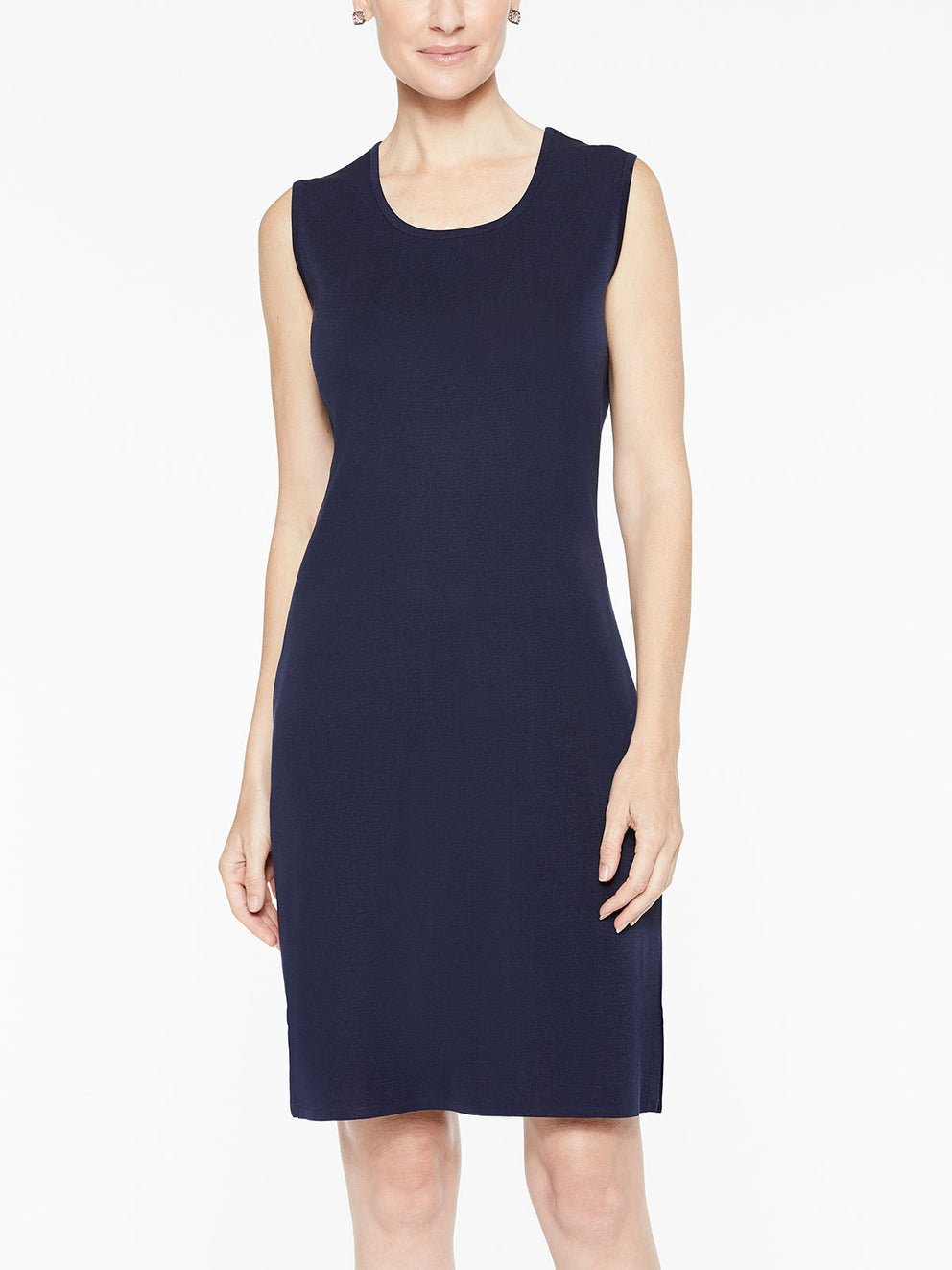 Sleeveless Sheath Knit Dress Misook