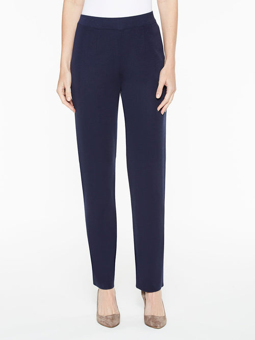 Straight Leg Knit Pant in Color Indigo