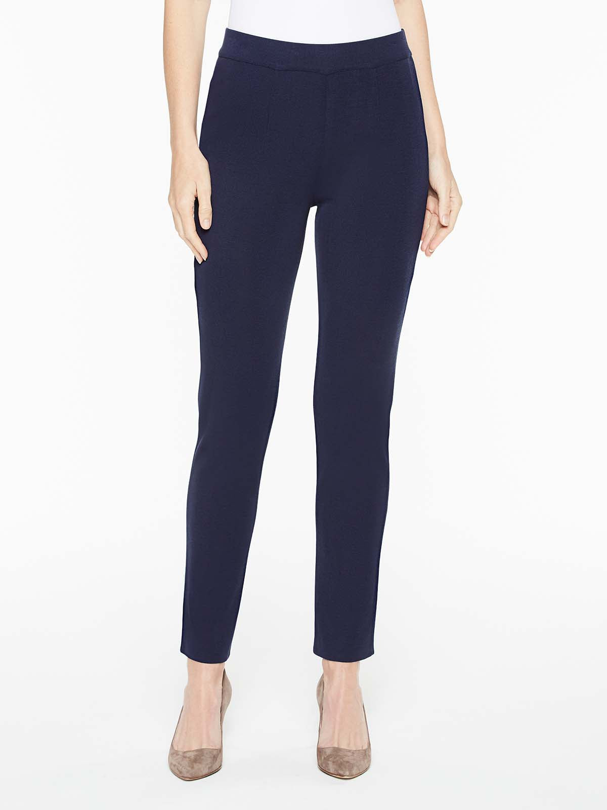 Indigo Slim Leg Knit Pant Color Indigo