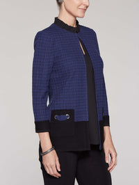 Pocket Detail Jacket Color Mazarine/Black