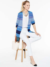 Bright Stripe Jacket Color China Blue/Blue Flame/White