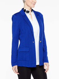 Patch Pocket Textured Blazer