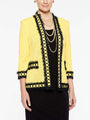 Fringe and Ring Jacket in Color Lemon Yellow/Black