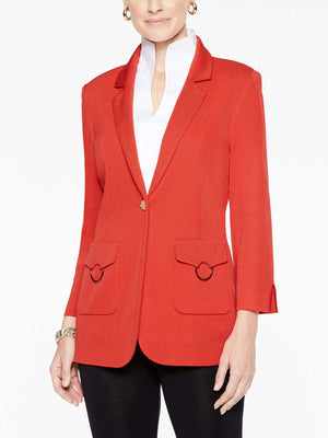 Patch Pocket Jacket Color Tangier Orange