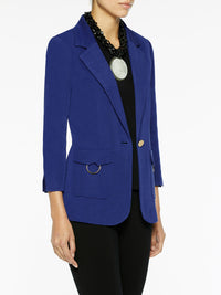Patch Pocket Knit Jacket, Blue Flame – Misook
