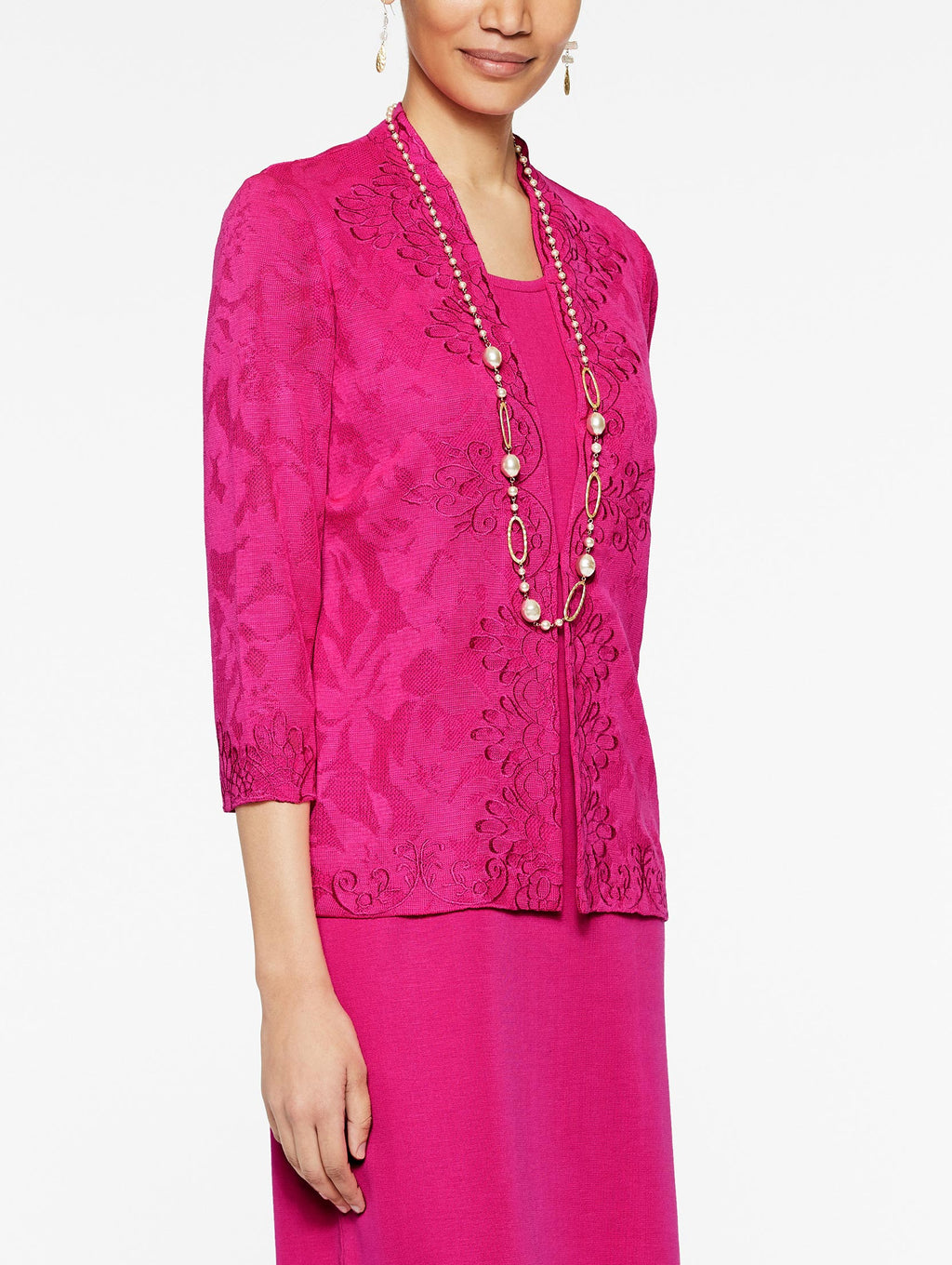 Sheer Floral Pattern and Embroidery Jacket