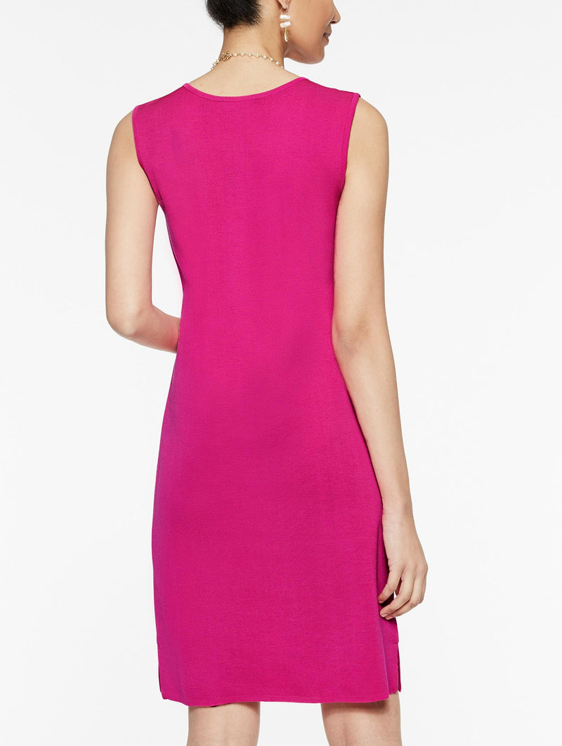 Primrose Pink Sleeveless Knit Sheath Dress