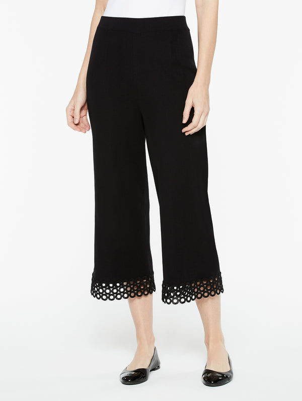 Knit Crop Trimmed Pant