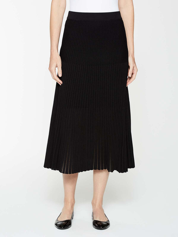 A-Line Multi Stitch Skirt Color Black