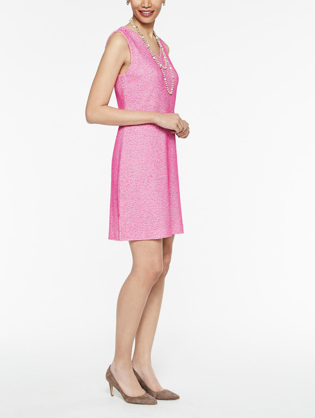 Ombre Pattern V-Neck Knit Sheath Dress