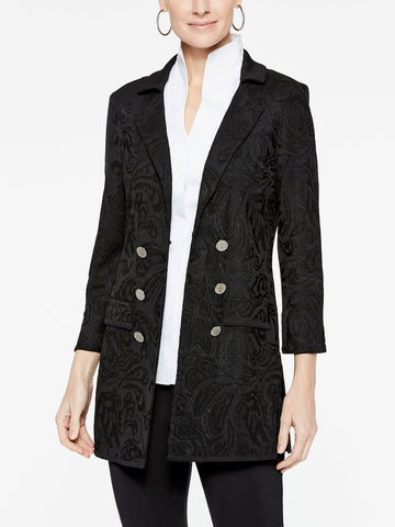 Monochromatic Paisley Pattern Jacket