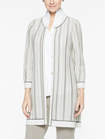 Soft Stripe Cardigan Jacket