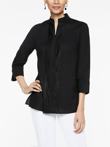Linen Zip-Up Tunic
