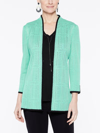 Soundwave Textured Jacket Color Laguna Green