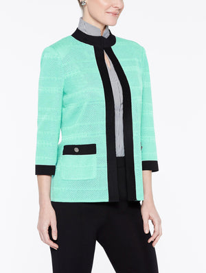 Textured Jacket with Black Frame