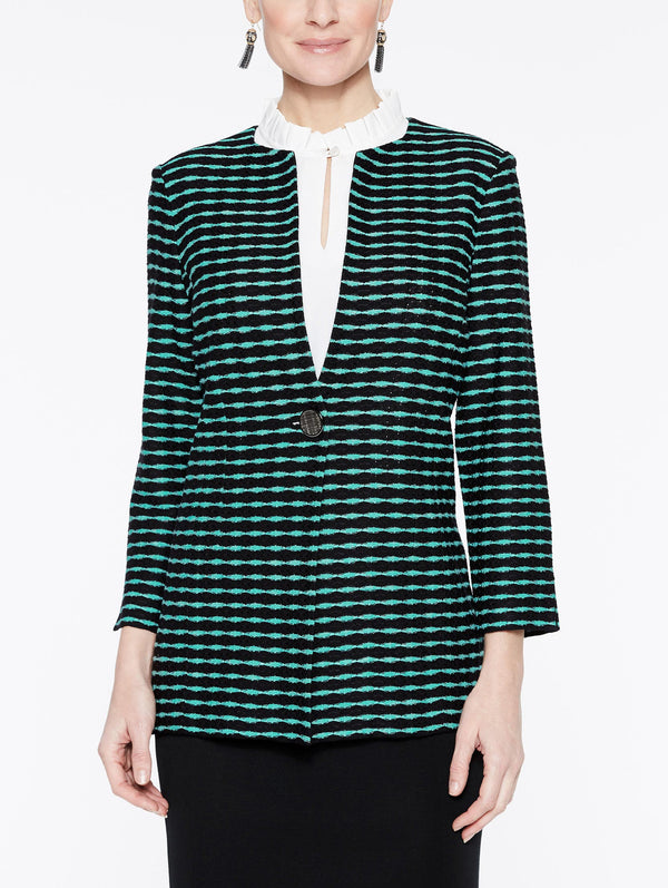 Color Splice Jacket Color Laguna Green/Black