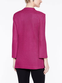 Basketweave Pattern Jacket Color Fuchsia Rose