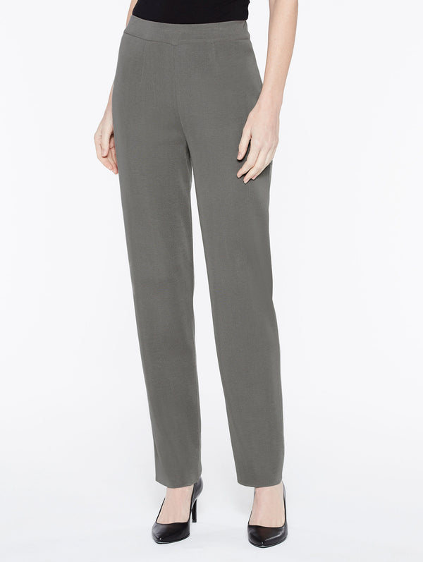 Straight Leg Pant Color Mink Grey