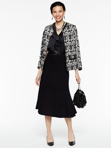 Brushstroke Pattern Jacket
