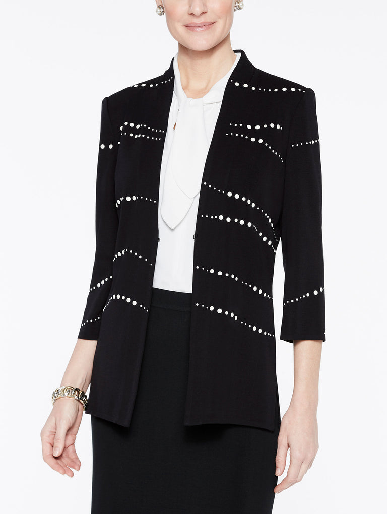 Pearl Detail Jacket Color Black