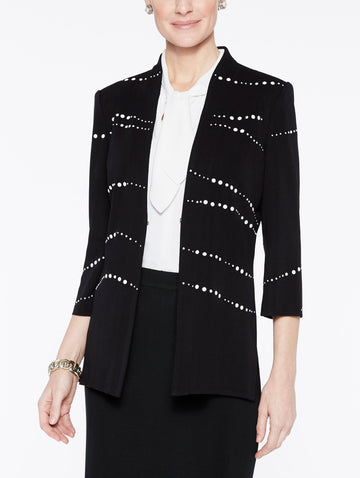 Plus Size Pearl Detail Jacket