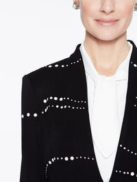 Pearl Detail Jacket Color Black Premium Detail
